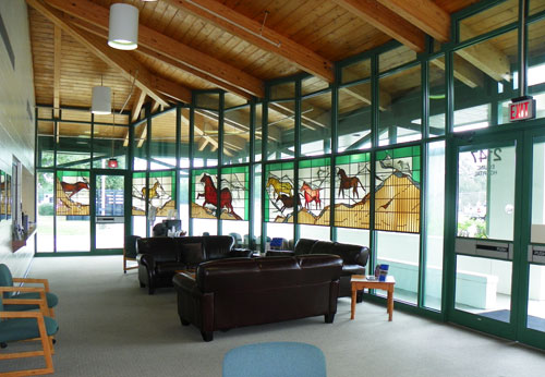 UF Large Animal Hospital reception area